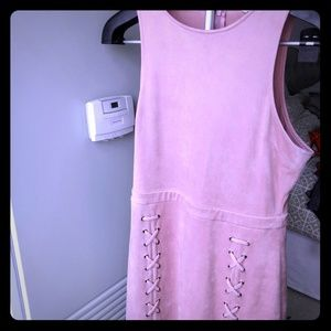 Cupcakes and cashmere size medium faux suede dress